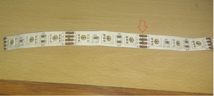 How to cut an led strip from middle
