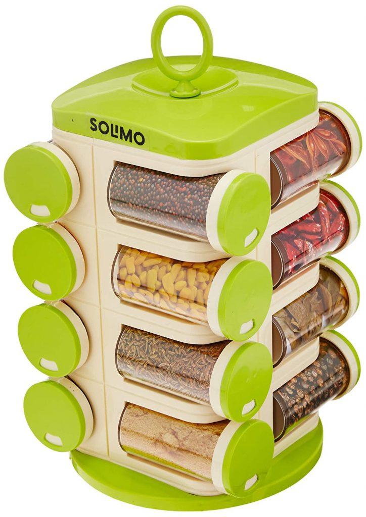 Amazon solimo revolving spice rack set