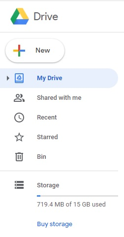 Google drive file transfer