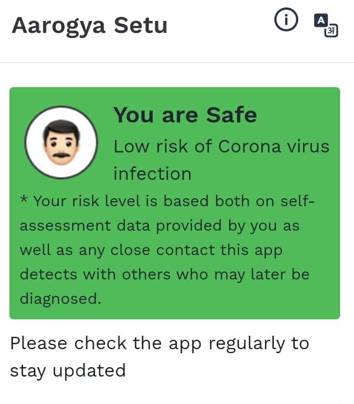 aarogya setu risk detector