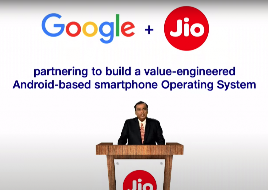 Google jio partnership