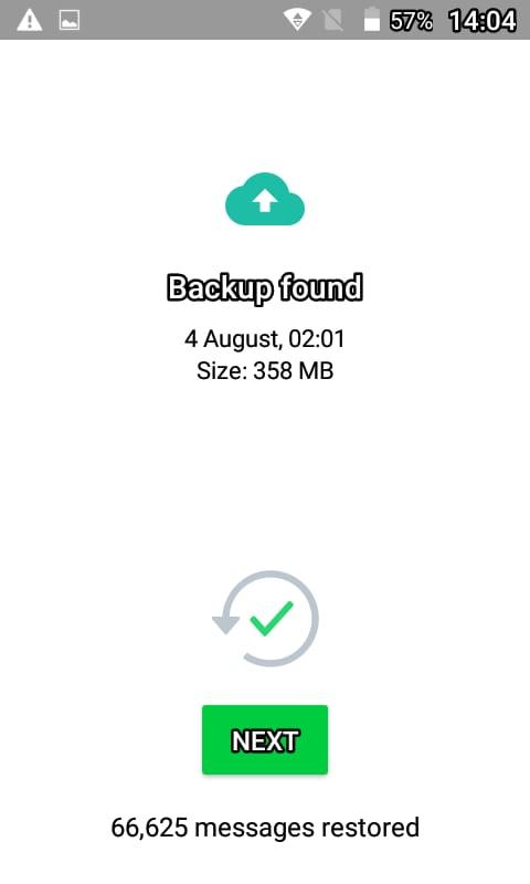 Whatsapp messages restore