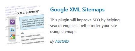 Google XML sitemap wordpress plugin