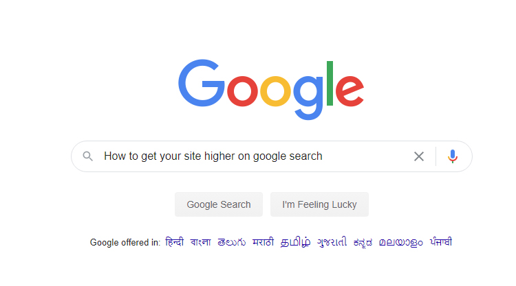 How to get your site higher on google