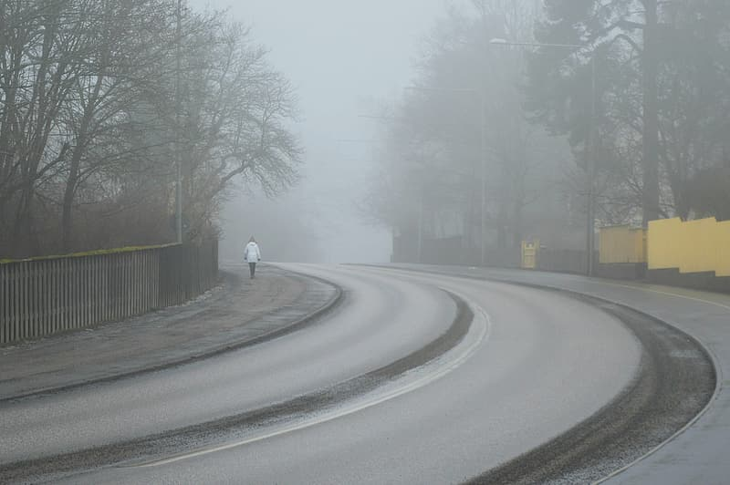 How fog is occurred on roads