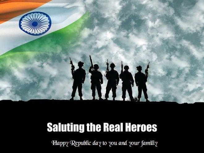 Happy republic day 2022 Indian soldier