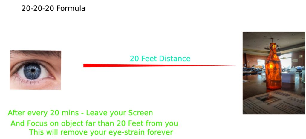 20 20 20 formula for eye protection